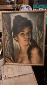60s painting Tina by J H Lynch