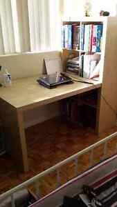 Book Shelf with desk / table combination