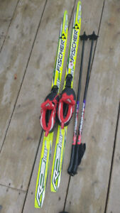 Kid's cross country skis,boots and poles