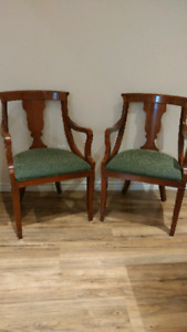 Antique brown wood chair sets