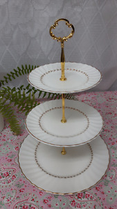 Vintage 3 tier cake stand.  Excellent condition! Royal Doulton
