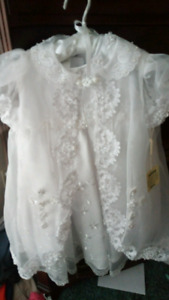 Infant girls sz 9 months baptism outfit