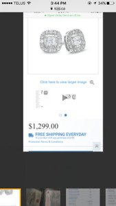 White gold Canadian diamond earrings
