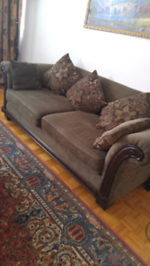 Excellant condition sofa set from bricks.$600 for the three sofa