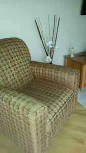 Designer Chaise sofa lounge and matching chair