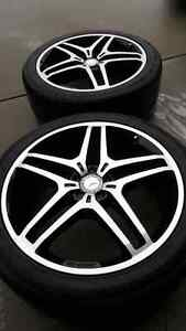 "For sale: Like NEW Mercedes Benz 21"" AMG 5 Twin Spoke Two Tone"