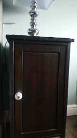 IKEA beside lamp table cabinets x 2