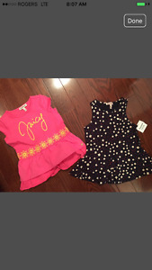 Juicy Couture girls tops retail $65 Size 5 NWT