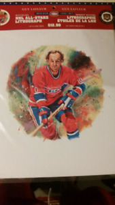 CANADA POST NHL ALL-STARS LITHOGRAPH