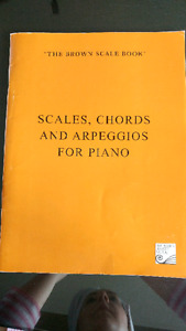 Piano and violin exercise books