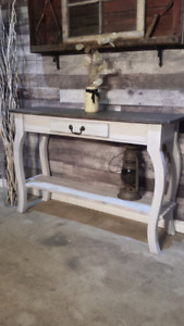 Handcrafted sofa/entry tables New