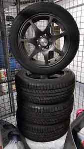 185 55 15 winter tire on Mag wheel  West Island Greater Montréal image 3