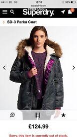 Genuine Superdry Parka woman's coat