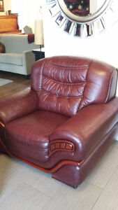 Sofa Chair - Burgandy Leather