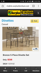 Dinning table and 4 chairs . Retails for 250+ tax