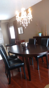 Scandanavian style dining room table /chairs