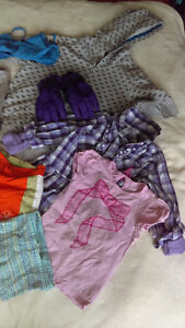 Girls clothes size 4-6x, winter gloves, and ugg boots