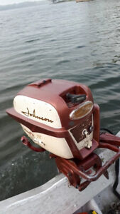 Runing vintage Johnson outboards