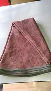 Dark Red Round Table Cover