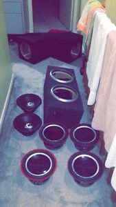 Two 300W Kicker Impulses and 3/4 Rockford Fosgate Subs