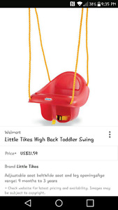 Little Tikes Toddler Swing