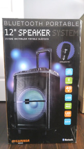 Bluetooth portable speaker system 12 ""