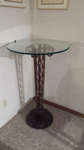 Bistro table - glass top