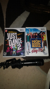 Wii games & mic