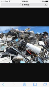 Free pick up of any and all scrap metal and e-waste