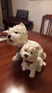Ceramic West Highland Terrier with Puppy