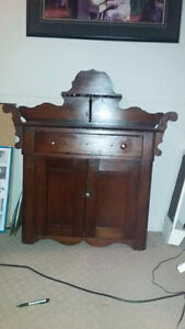 Antique cabinet and bed