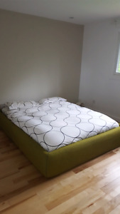 Ikea Low Bed Frame With Green Cover