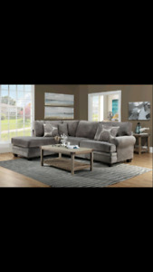 Grey sectional. Can deliver