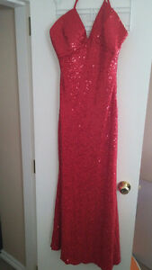 Magnificent sparkling promo or bridesmaid red gown! S-M