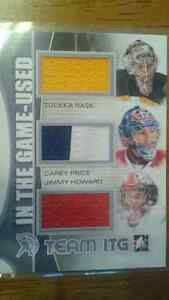 ITG used Team ITG Triple jersey Rask/Price/Howard /9