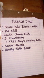 Garage sale 4108-112a st