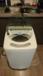 Portable 1.6 Cubic Foot Apartment Sized Washing Machine.