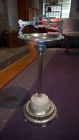 lighted vintage ash tray