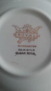 Quban Royal China 22K Gold
