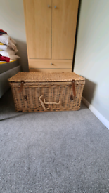 Lined Wicker chest