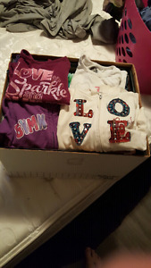 Box of girls size 4t-6t assorted clothes