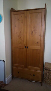 Solid Wood Wardrobe - Excellent Condition
