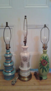 2 Deco table lamps / 3rd table lamp
