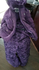 Girls Winter Jacket with Snow Pants Size 8