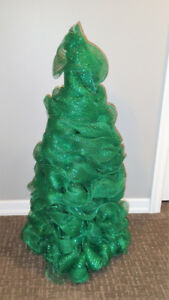 3 ft. Christmas Tree, Mesh Green Wrap, Small Xmas Tree