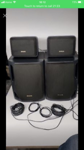 Aiwa 4 speakers, 2 small speakers 20W and 2 big speakers 80w ea