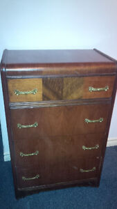 dresser walnut waterfall antique