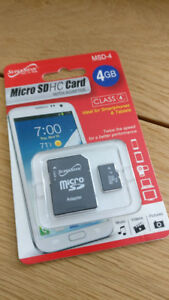 Micro SD HC Card 4GB with adapter