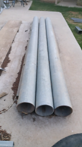 3 X Galvanized Steel Posts 2.6 mtrs long