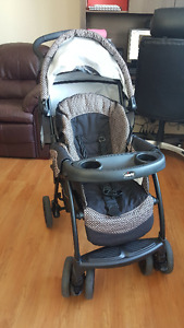 Stroller with Car Seat and an Exersaucer